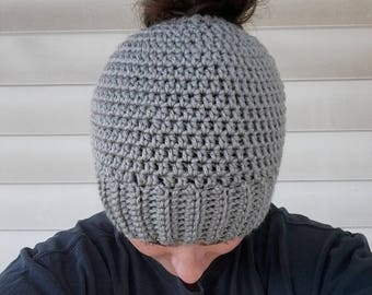 Messy bun hat, ponytail beanie, bun hat, bun beanie, ponytail hat
