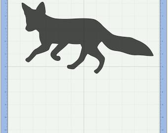 Fox Cutting file. SVG & Scut3 file formats included. Sizzix / Cricut / eCal / Sure-Cuts-a-Lot