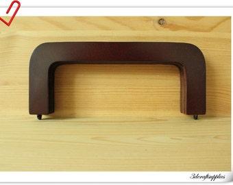 20cm x 8cm  8 inch  dark brown wooden  purse frames M68
