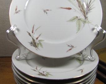 Zeh Scherzer Dinner Plates - Golden Brown Wheat - Pattern Number 005985 - Set of Seven (7)