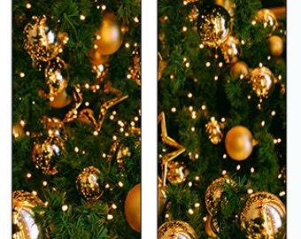 Gold Ornament Tree Socks