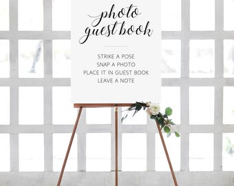 Photo guest book sign, Photo book sign, Instant photo guest book sign, Printable Photo wedding guest book, Picture guest book, Alejandra
