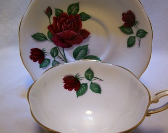 Tea cup, Royal Standard, Red Velvet Pattern