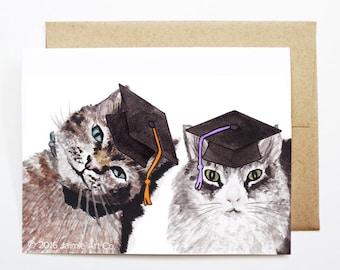 Graduation Card - Cats, Grad Card, College Graduation, High School Grad, Congrats Grad, Congrats Card, Cute Animal Card, Cat Card