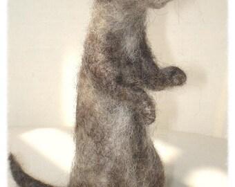 Ooak Needle Felted Ferret