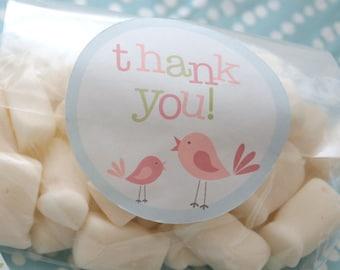 WHIMSICAL BIRD Thank you Favour Tags  - Printable