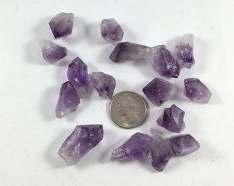 Beautiful Raw AMETHYST Healing Gemstone// Small AMETHYST POINTS// Raw Stones// Healing Crystals// February Birthstone// Crown Chakra Stones