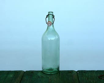 Italian extra large beer bottle with ceramic stopper