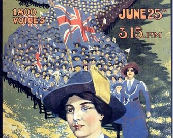 Vintage British Girl Guide Concert Royal Albert Hall Poster A3 Print