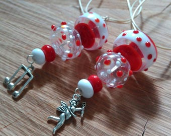 Handmade Lampwork Necklace with Hollow Beads