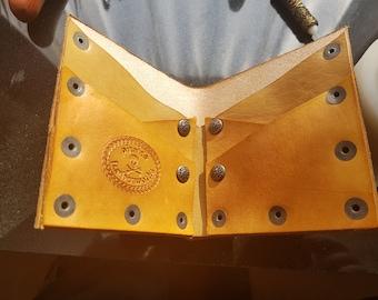 Men's bi fold wallet 100% leather hand made