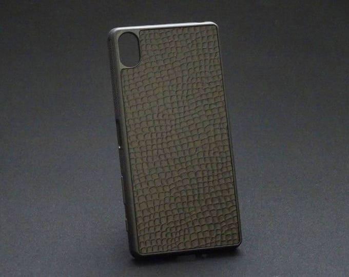 Sony XZ XZs - Jimmy Case in Black Python Texture - Kangaroo leather - Handmade - James Watson
