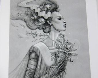 Bride of Frankenstein Archival Print