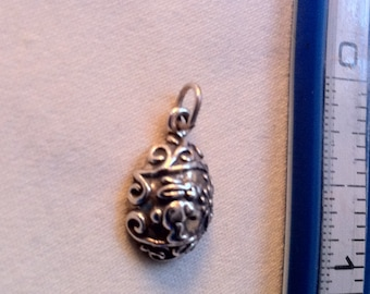 Easter Egg Charm Sterling Silver