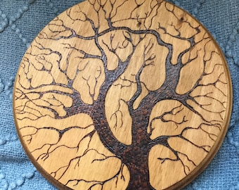 Tree of Life Wood Sign | Wood Burned | Home Decor | Pyrography | Wall Decor | Gifts for her | Gifts for Mom | Housewarming | Crystal Healing