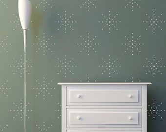 Stars Dots Wall Stencil Custom Small to Large Stencils  in reusable mylar