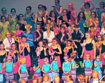 Dancers wall art pop art  24X16 wall people children theater