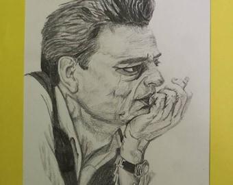 Johnny Cash - Original Sketch.