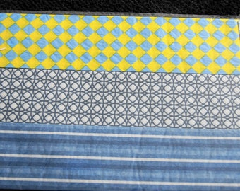 set of 3 sheets of silk 40 * 60 cm each various colors & patterns