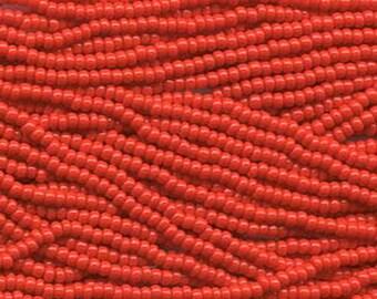8/0 Light Red Opaque Genuine Czech Glass Preciosa Rocaille Seed Beads 37 grams