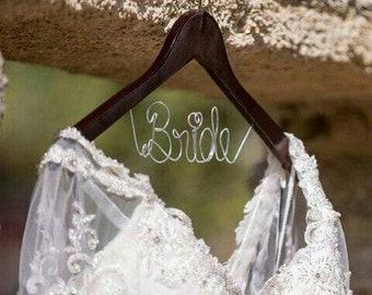 Bridal Hanger, Custom Bridal Hanger, Brides Hanger, Name, Wedding Hanger, Wedding Dress Hanger, Shower, Bride white Hanger, Bride hanger