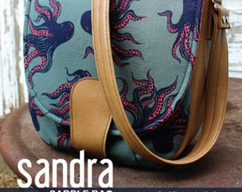 Sandra Saddle Bag Pattern by Swoon Sewing Patterns; SWN011; DIY Handbag; Vintage inspired bag; Sewing Pattern; OPTIONAL: Add a Swoon Tag