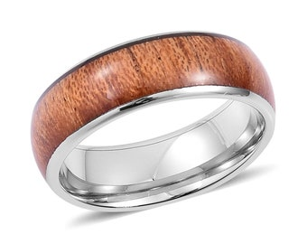Man's Comfort Fit Wooden Ring - Size 11.5