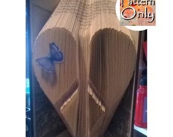 Peace Heart Folded Book Art Pattern