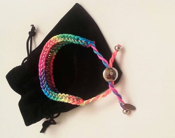Rainbow bracelet perfect for your BFF or birthday lootbags