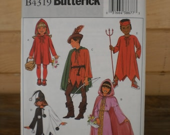 Costume pattern Butterick B4319 sml med lrg x