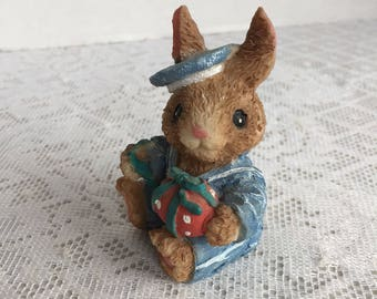 Easter Bunny in a Sailor Suit with an Easter Egg / Vintage Easter Collectibles