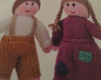 Handmade Knitted Hansel And Gretel Doll Set, Part Of The Story Book Collection (New, Made To Order) 3+