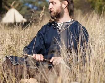 "Cotton Viking Tunic ""Bjorn the Pathfinder""; Men's MedievalTunic; Cotton Tunic; Viking Costume"
