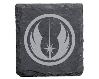 Star Wars Jedi Order Symbol Engraved Slate Coasters