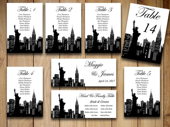 Diy Wedding Seating Chart Template New York Wedding Travel