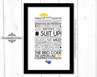 How I Met Your Mother - TV Series - Typography - Quotes & Words - PRINT