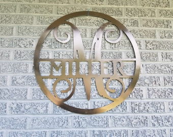 Family monogram sign