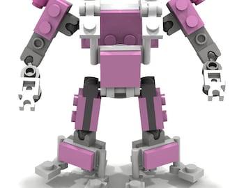 Lego Pink Customizable Exoframe Robot Figure by BWTMT Brickworks