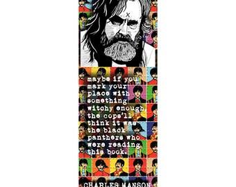 charles manson bookmark