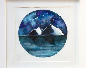 Wanderlust Galaxy Sky Watercolour Painting