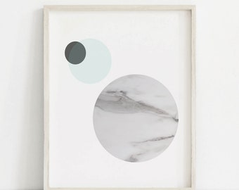 Abstract Print, Abstract Printable, Marble Print, Space poster, Marble Moon, Modern Abstract Print, Modern Abstract Wall Art, Marble Circle