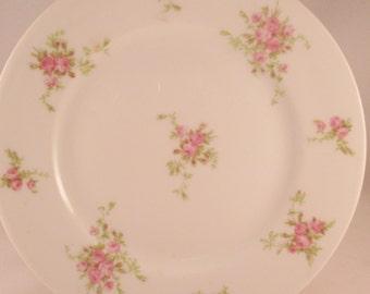 Antique Limoges Dessert Plate, Rose Transfer. Wedding Gift, Housewarming Gift, Thank You Gift, Hostess Gift, Anniversary Gift