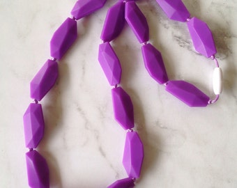 SALE! Silicone Teething Necklace - Purple