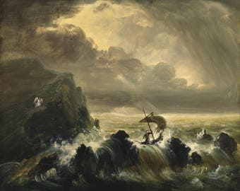 Thomas Cole: The Voyage of Life - Manhood. Fine Art Print/Poster (004383)