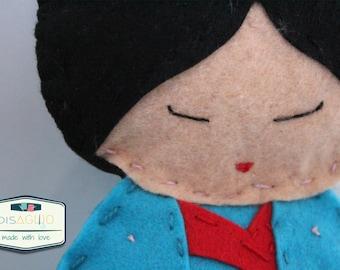 "Dolls ""Around The World""-Japan//Idea Reaglo//Girls//Collection//dolls//travel-lovers//felt//Felt"
