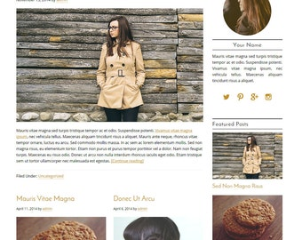 WordPress Blog Theme - Beauty WordPress Design - Blog Design - Blog Design and Installation - WordPress Template - Audrey
