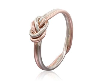 Gold Nautical Knot Ring 1.2mm Wire - Promise Ring for Her - Celtic Knot Ring - Infinity Ring - Eternity Ring - Bohemian Ring - Dainty Ring