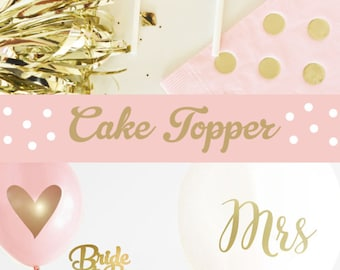 Bride to Be Cake Topper Bachelorette Cake Topper Bridal Shower Cake Topper Bridal Cake Topper (EB3116) Bride to Be cake topper