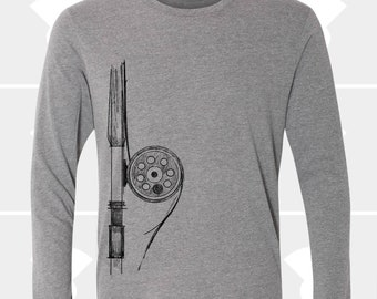 Fly Fishing Rod - Unisex Long Sleeve Shirt