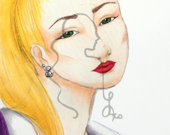 Blonde Girl Fine Art Print